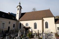 Italien, Bressanone, Kirchhof der Abtei von Neustift Lizenzfreie Stockfotos