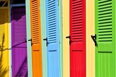 Italien: Bunte Umkleideräume Lizenzfreies Stockfoto