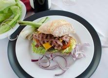 Italien burger Stock Image