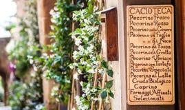 Italien Cacioteca Images stock