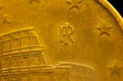 Italien 5 cent mynt Colosseum Royaltyfri Bild