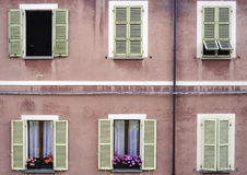 Italien classique Windows Photographie stock libre de droits