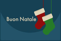Italien de Buon Natale Joyeux Noël Photo stock