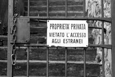 Italien de connexion de propriété privée photos stock