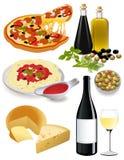 Italien de nourriture Photographie stock libre de droits