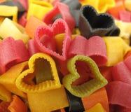 Italien de pâtes en forme de coeur Photographie stock
