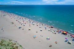Italien, der Strand des adriatischen Meeres Rest auf dem Meer nahe Venic Lizenzfreie Stockfotos
