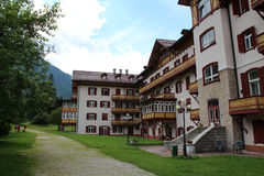 Italien, Dolomit/Wohnungs-Hotel Stockfoto