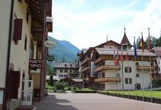 Italien Dolomites/lägenhethotell Arkivfoto