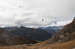 Italien Dolomites, Sass Pordoi Royaltyfri Fotografi