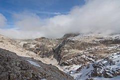 Italien Dolomites, Sass Pordoi Fotografering för Bildbyråer