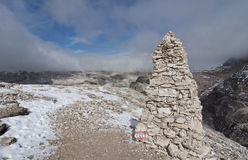 Italien Dolomites, Sass Pordoi Arkivbild