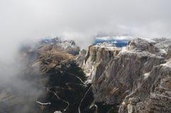 Italien Dolomites, Sass Pordoi Arkivbilder