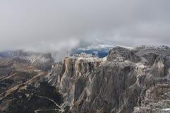 Italien Dolomites, Sass Pordoi Arkivfoto