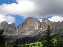Italien dolomitesna härligt berglandskap Arkivbilder