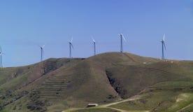 Italien, eolic Energieturbinen Stockfotografie