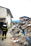 Italien-Erdbeben Stockfotos