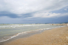 ITALIEN, Falconara Marittima - 14. August 2013: Ansicht vom dese Lizenzfreie Stockfotografie