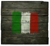 Italian flag on wood Royalty Free Stock Photography