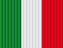 Italien-Flaggenhintergrund Stockfotografie