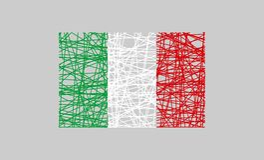 Italien-FlaggenKonzept des Entwurfes Stockfotografie