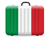 Italien-Flaggenreisekoffer stock abbildung