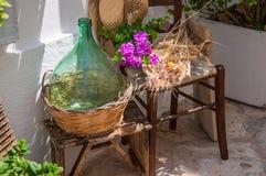 Italien-Flasche blüht Hut Lizenzfreie Stockfotografie