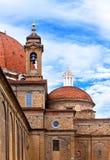 Italien. Florence. Domkyrka Santa Maria del Fiore. upp Arkivbilder