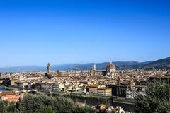 Italien Florence Panorama der alten Stadt stockbild