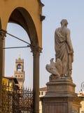 Italien, Florenz, Dante-Statue Lizenzfreie Stockfotografie