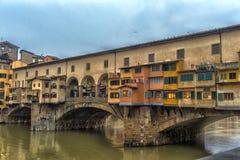 Italien, Florenz, 03,01,2018 die goldene Brücke Stockfotografie