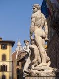 Italien, Florenz, Signoria-Quadrat, Statue von David Lizenzfreies Stockbild