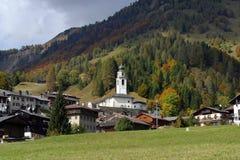 Italien, Friuli Venezia Giulia, Sauris-Dorf Lizenzfreie Stockfotos
