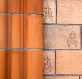 Italien gammal kyrklig väggtegelsten Royaltyfri Bild