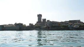 Italien Garda sjö Sirmioni stock video