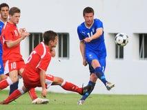 Italien gegen die Schweiz - FIFA unter 20 Lizenzfreie Stockbilder