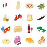 Italien isometriska symboler 3d Royaltyfri Fotografi