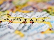 Italien-Karte lizenzfreie stockfotografie