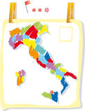 Italien-Karte in der Lackart Lizenzfreies Stockbild
