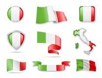 Italien kennzeichnet Sammlung Stockfotografie