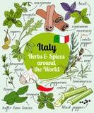 Italien-Kräuter und -gewürze Stockbilder