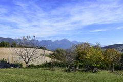 Italien, Landschaft, Himmel, Grenze, Panorama, Wolken, Lizenzfreies Stockfoto