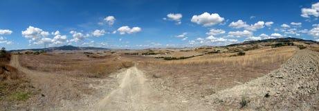 Italien, Landschaft nahe Volterra Lizenzfreie Stockfotografie