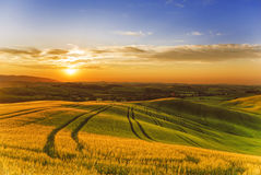Italien Landschaften von Toskana stockbild