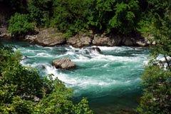 Italien, Lombardei, entlang dem Adda-Fluss Stockfotografie