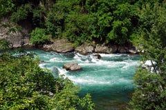 Italien, Lombardei, entlang dem Adda-Fluss Stockbild