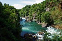 Italien, Lombardei, entlang dem Adda-Fluss Lizenzfreie Stockbilder
