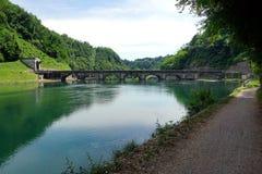 Italien, Lombardei, entlang dem Adda-Fluss, die Robbiate-Verdammung Stockbilder