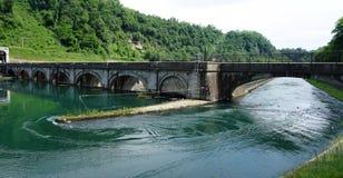 Italien, Lombardei, entlang dem Adda-Fluss, die Robbiate-Verdammung Stockfoto