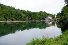 Italien, Lombardei, entlang dem Adda-Fluss, die Verdammung Stockbilder